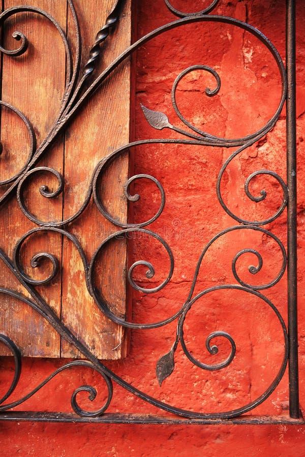 结构五颜六色的cuzco详述秘鲁 免版税库存图片