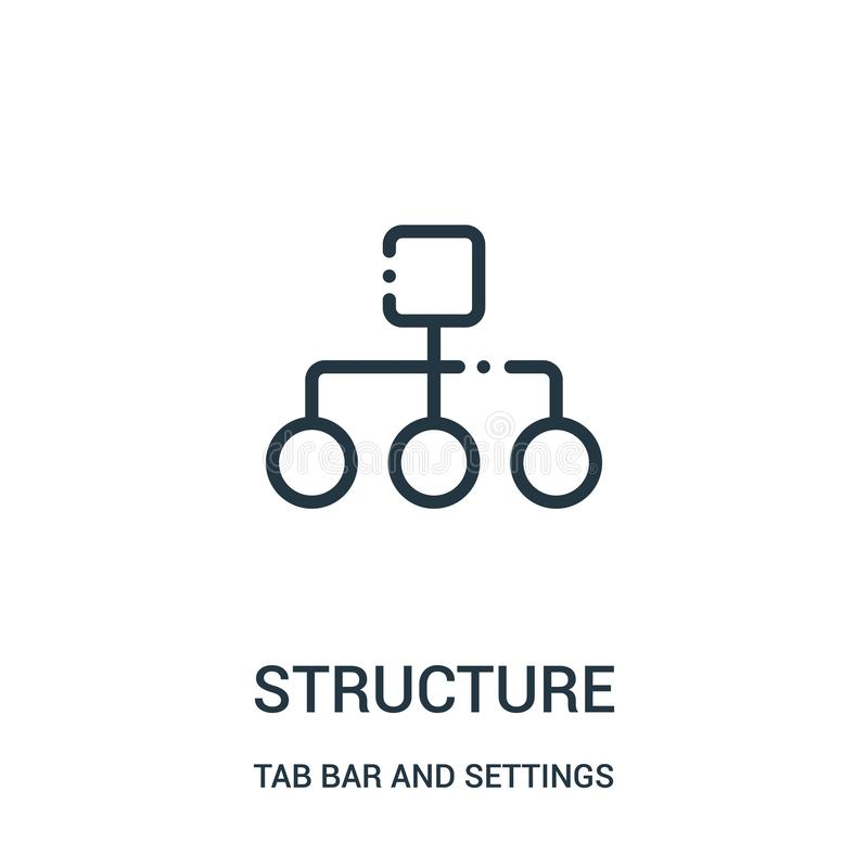 结构从选项酒吧和设置汇集的象传染媒介 稀薄的光栅结构概述象传染媒介例证 库存例证