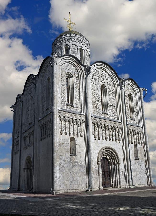 结构大教堂demetrius纪念碑俄国st石suzdal唯一vladimir白色 免版税库存图片