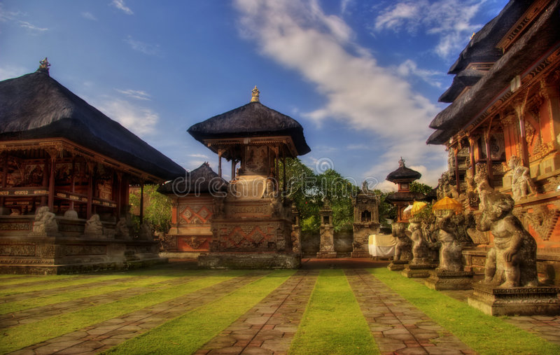 结构太阳的巴厘岛 图库摄影
