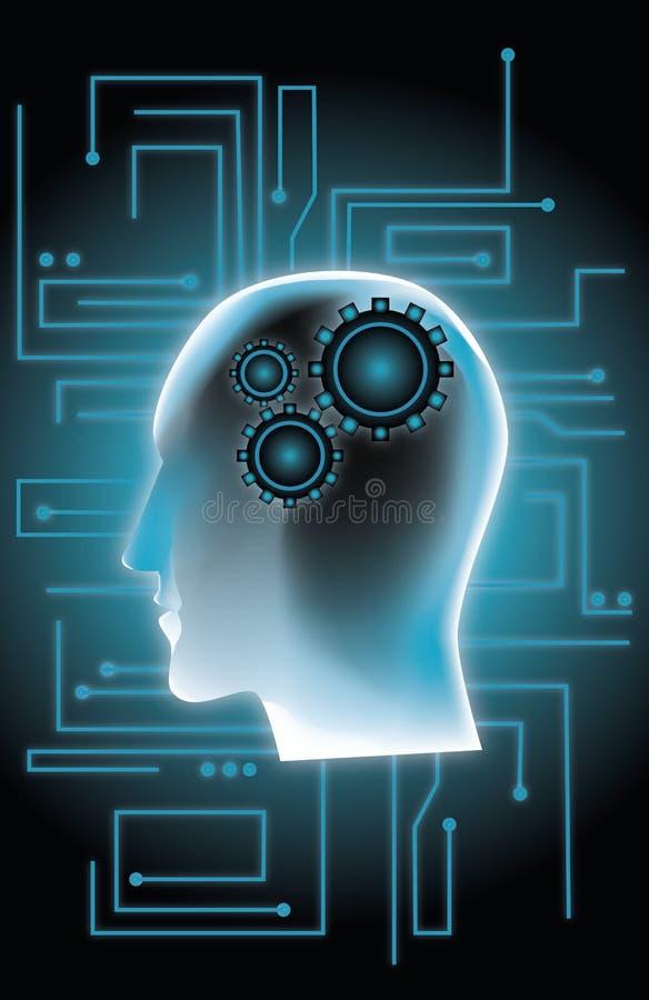 结构头脑 库存例证