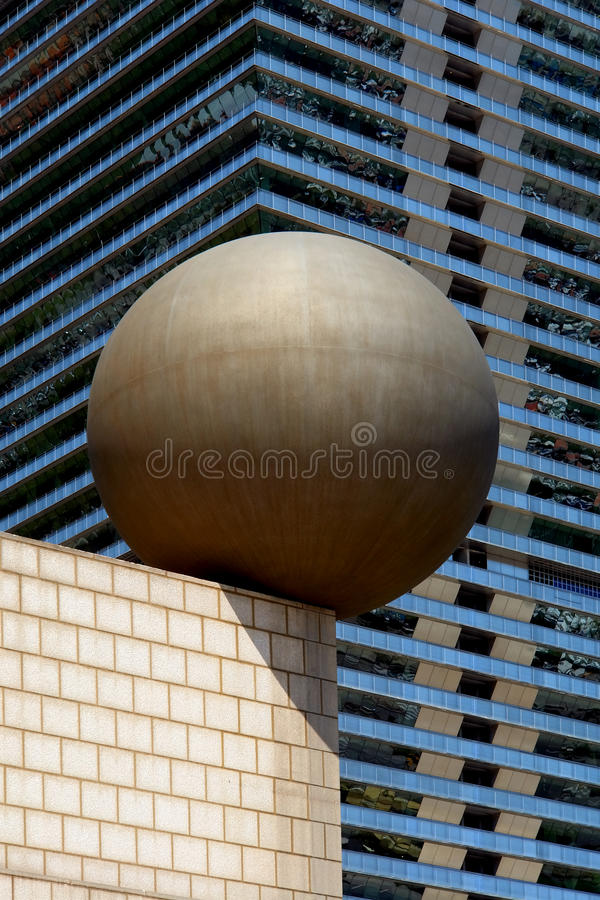 结构巴塞罗那现代奥林匹克端口 库存照片