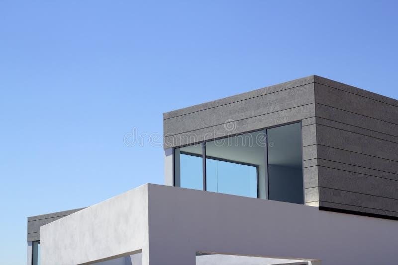 结构庄稼详述现代的房子 免版税库存图片