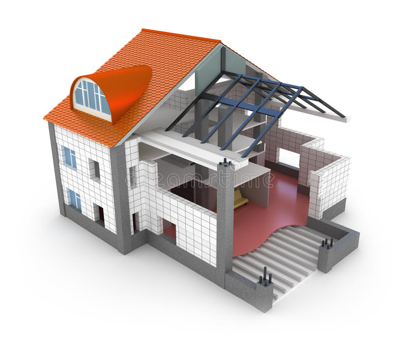 结构房子计划 库存例证