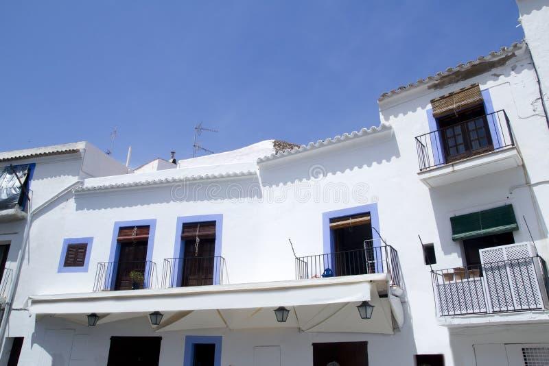 结构拜雷阿尔斯ibiza海岛白色 免版税图库摄影
