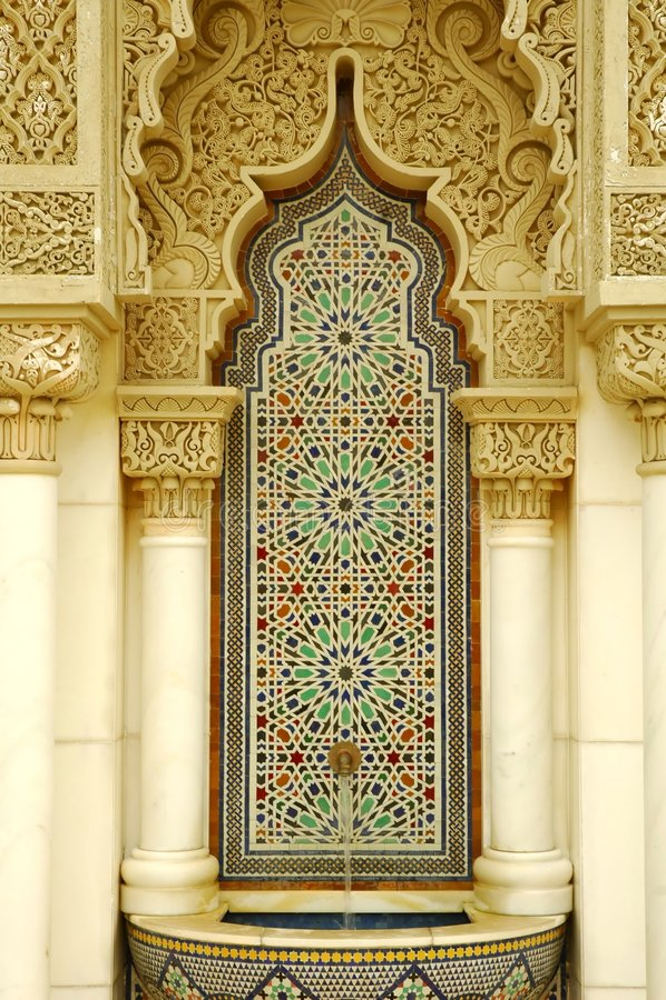 结构摩洛哥人 库存照片