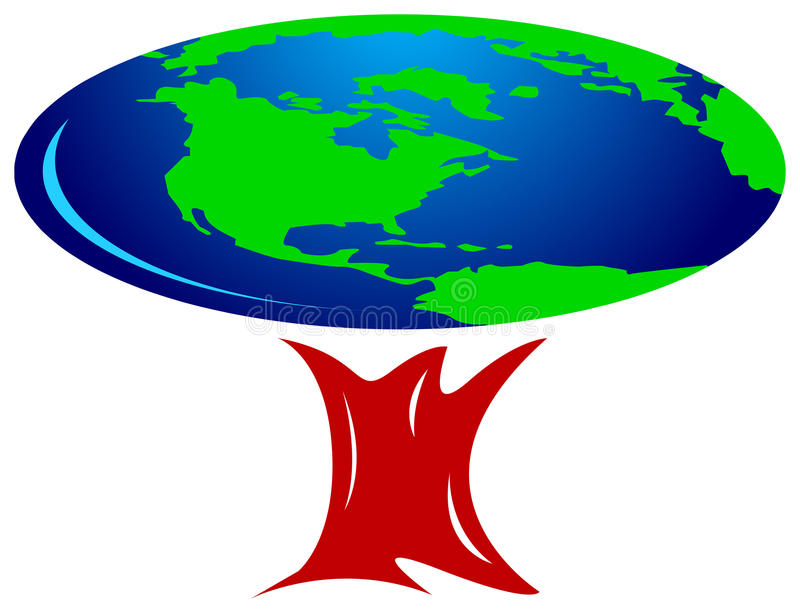 结构树世界 向量例证