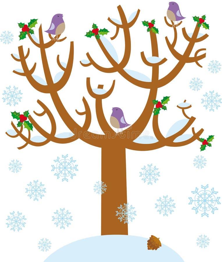 结构树冬天 库存例证