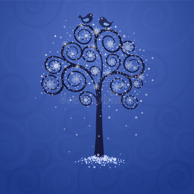 结构树冬天 皇族释放例证