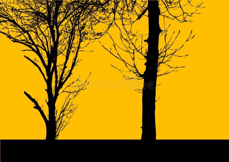 结构树向量黄色 皇族释放例证