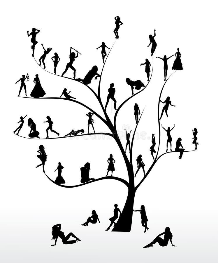 结构树妇女 向量例证