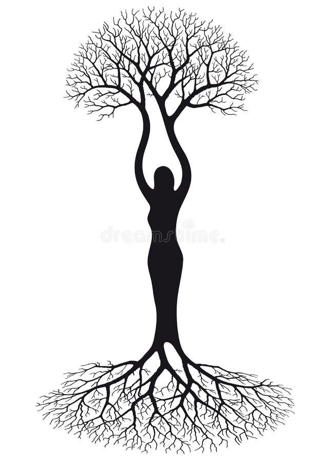 结构树妇女 库存例证