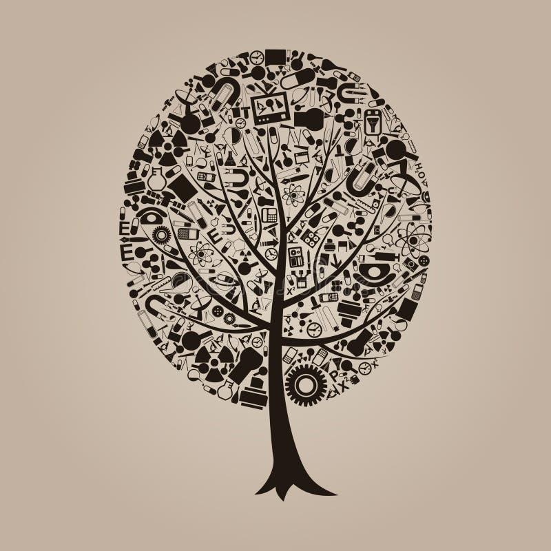 结构树科学 库存例证