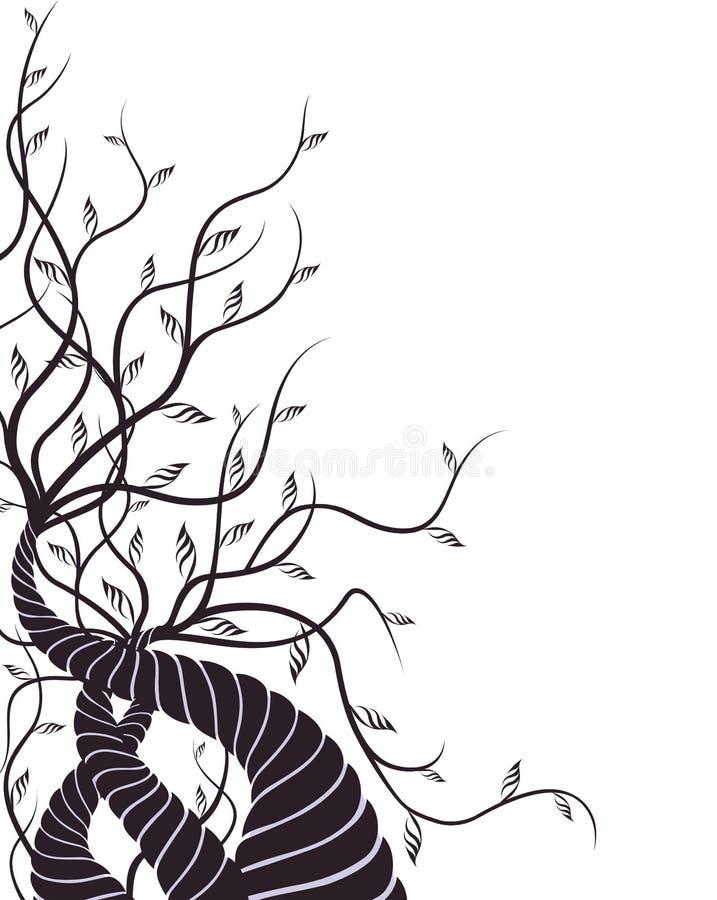 结构树藤 向量例证