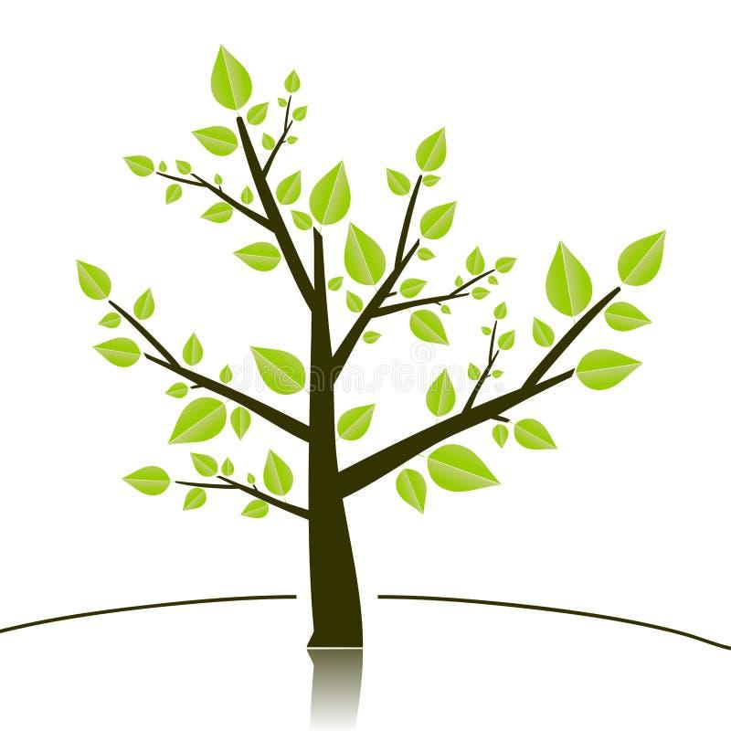结构树sillhouette 皇族释放例证