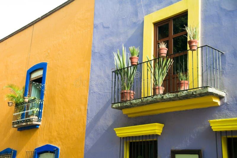 结构殖民地墨西哥普埃布拉 免版税库存照片