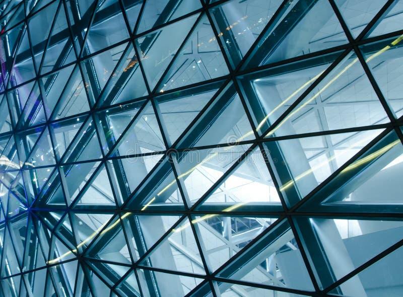 结构现代大厦的详细资料 免版税图库摄影