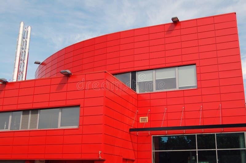 结构现代红色 免版税库存照片