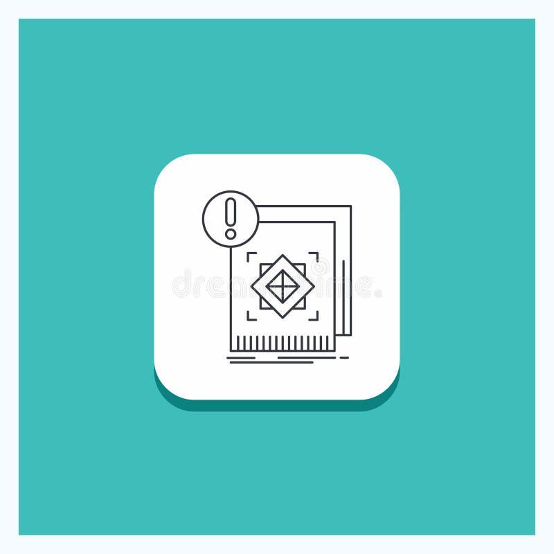 结构的,标准,基础设施,信息,机敏的线象绿松石背景圆的按钮 库存例证