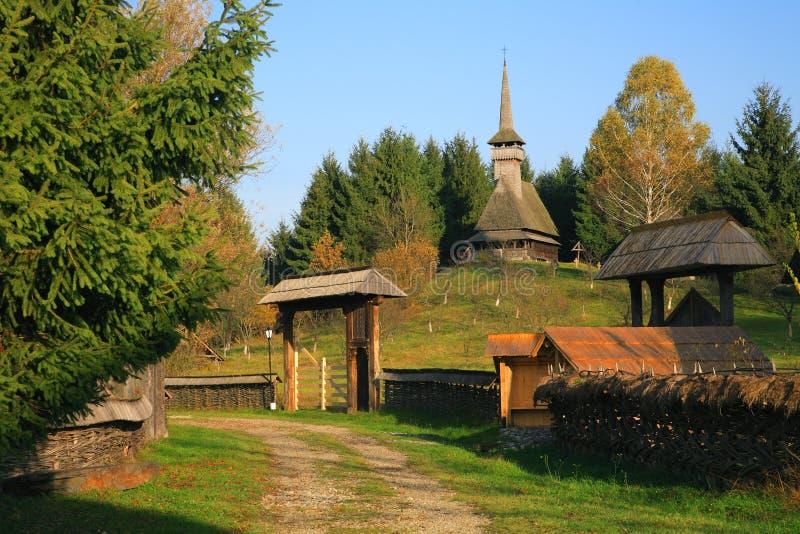 结构罗马尼亚传统 库存图片