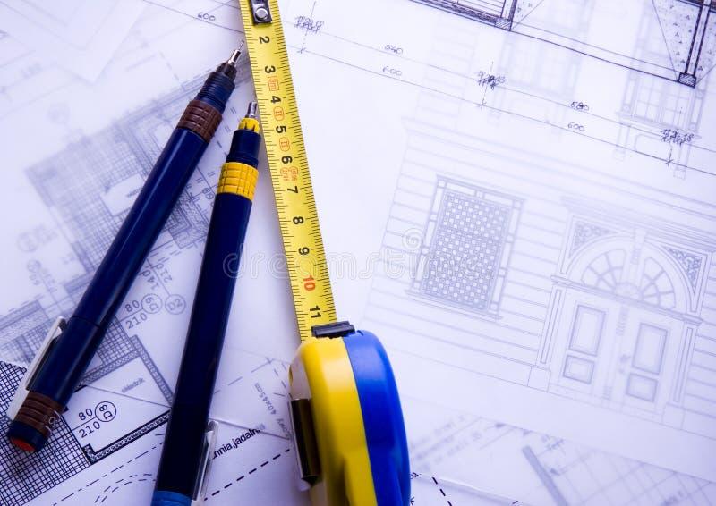 结构计划 免版税库存照片