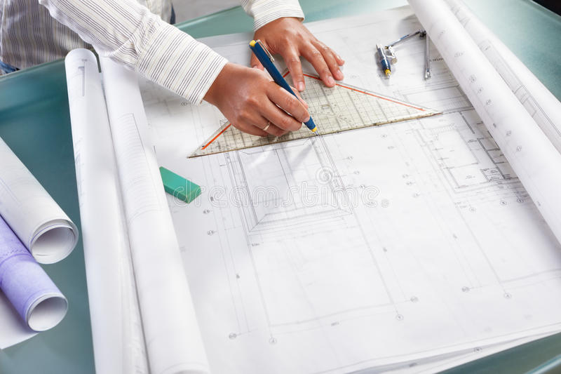 结构设计工作 免版税库存图片