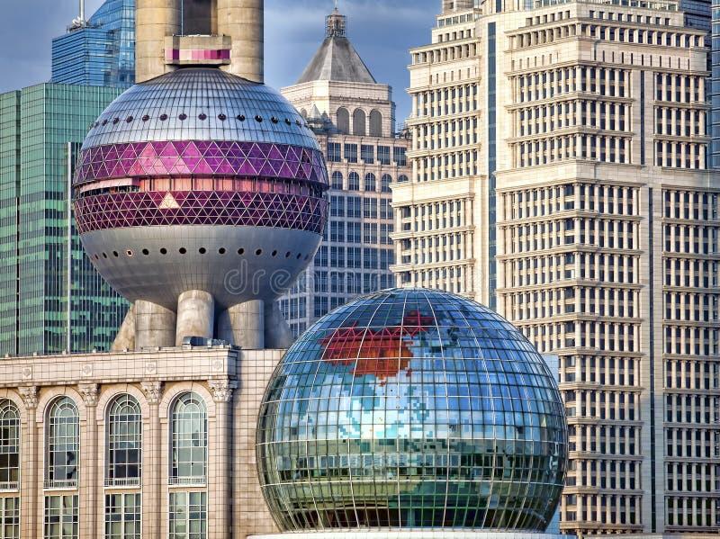 结构详述现代上海 库存照片