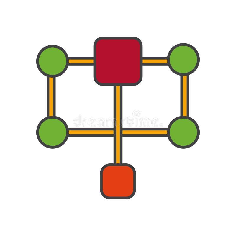 结构象在白色背景和标志隔绝的传染媒介标志,结构商标概念 库存例证