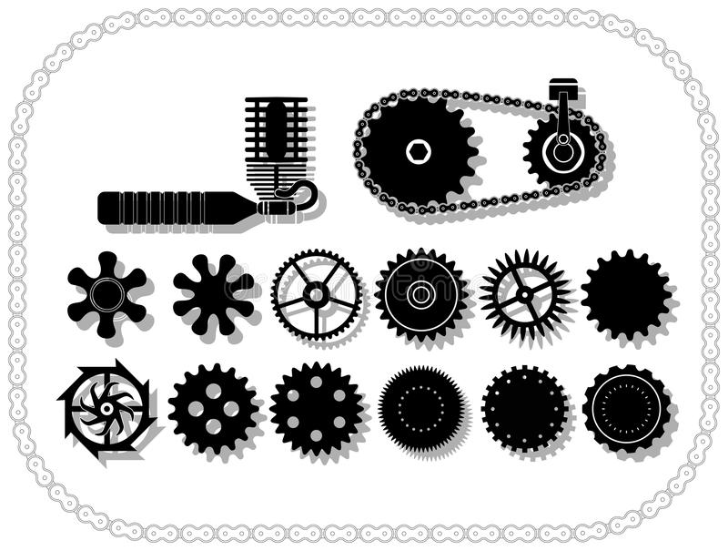 结构轮子 库存例证