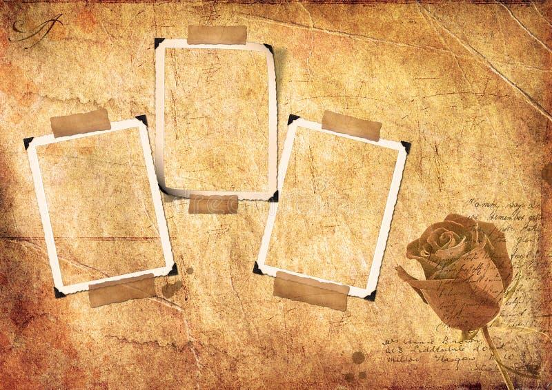 结构grunge纸张照片 向量例证
