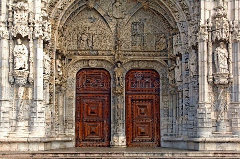 结构jeronimo里斯本修道院葡萄牙 免版税图库摄影