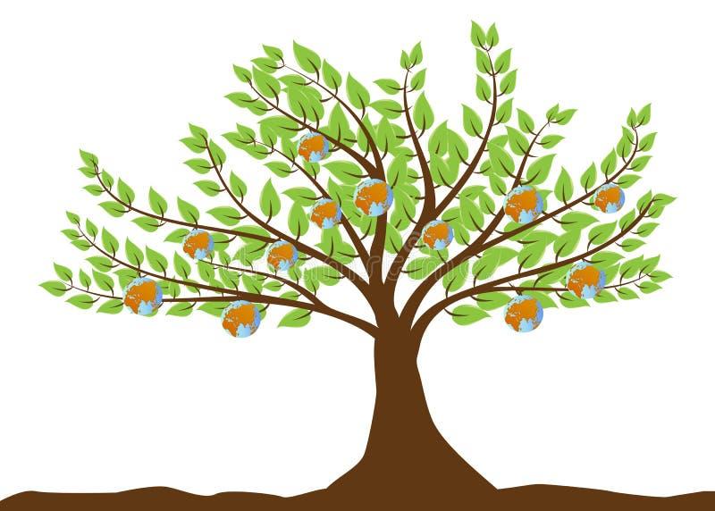 结果实地球结构树 皇族释放例证