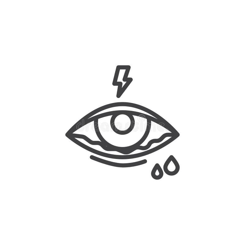 结膜炎眼睛线象 库存例证