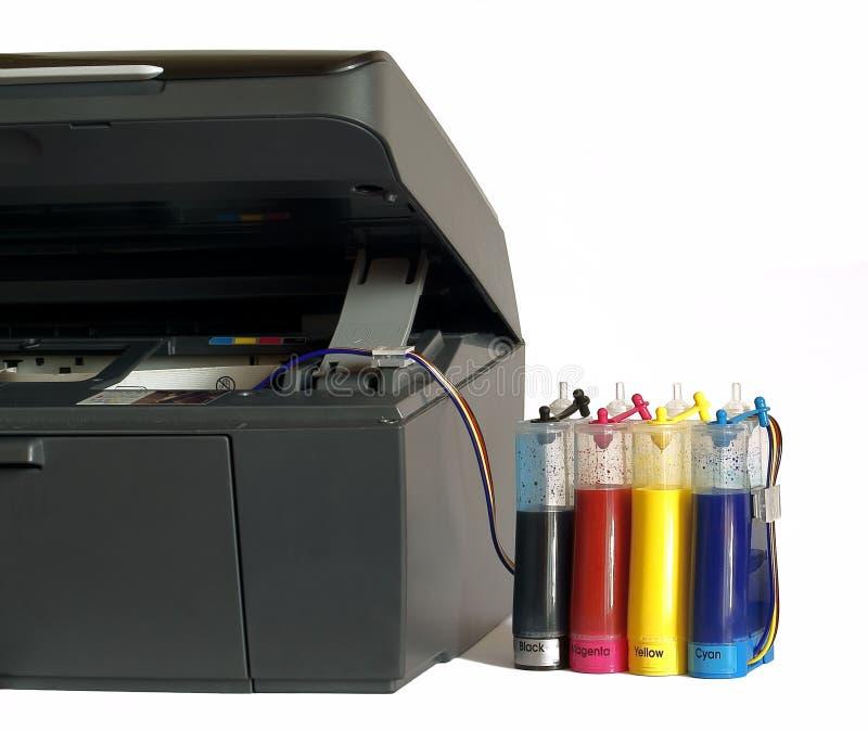 结转墨水打印机系统 免版税图库摄影