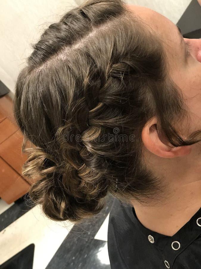 结辨的发型 库存照片