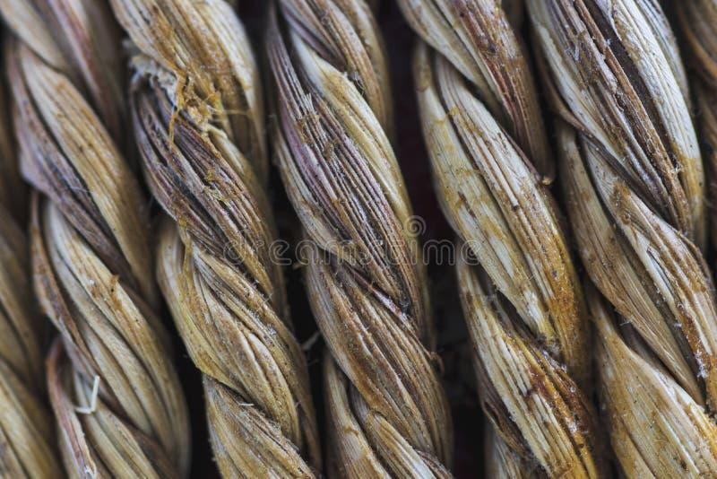 结辨的天然纤维 极端宏指令 库存图片