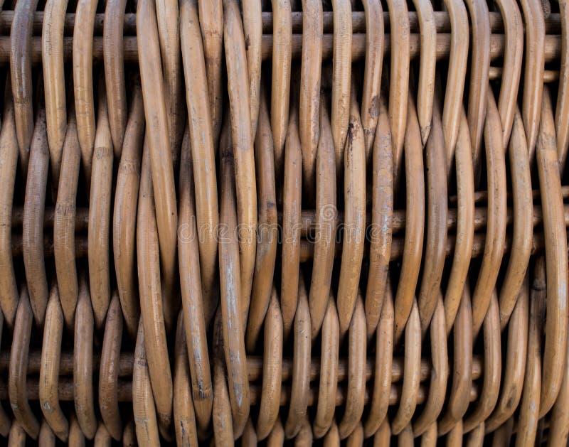 结辨的篮子样式纹理  柳条表面 Twiggen容器 免版税库存照片