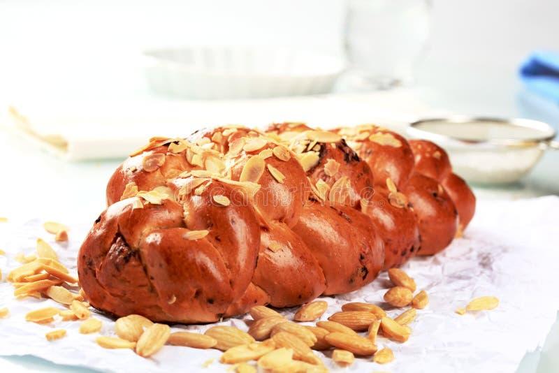 结辨的面包甜点 免版税库存图片
