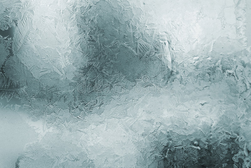 结霜的视窗 免版税库存照片