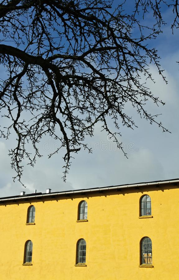 绕环投球法在Horsholm,丹麦 免版税库存照片