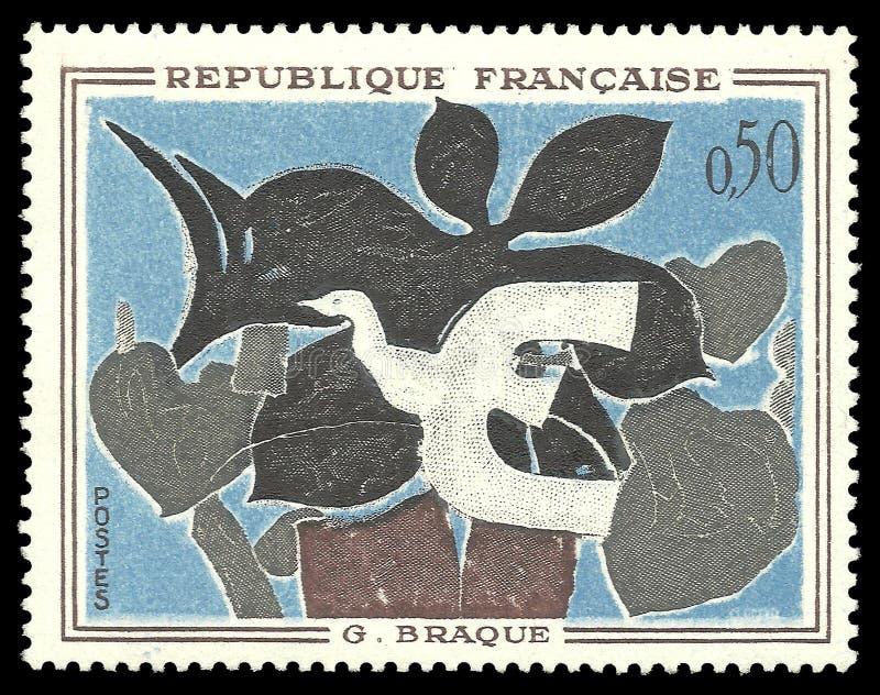绘信使Braque 库存照片