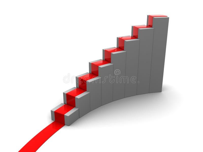 绘制上升的台阶图表 库存例证
