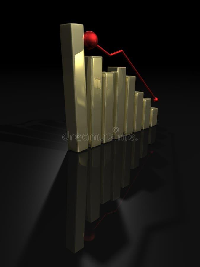 绘制下来落的金子 向量例证