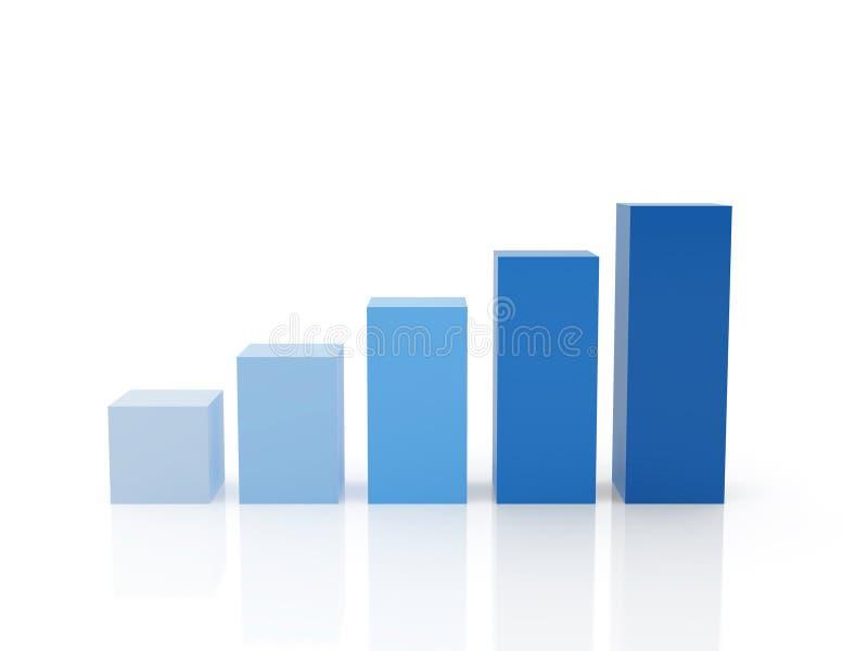绘制五细分市场 向量例证