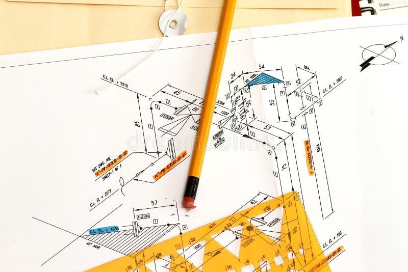 绘制仪器管道系统 免版税图库摄影
