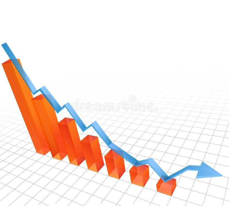 绘制倾销例证向量图表 免版税库存照片