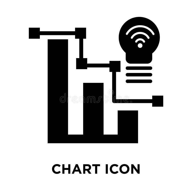 绘制在白色背景隔绝的象传染媒介图表,商标概念  库存例证