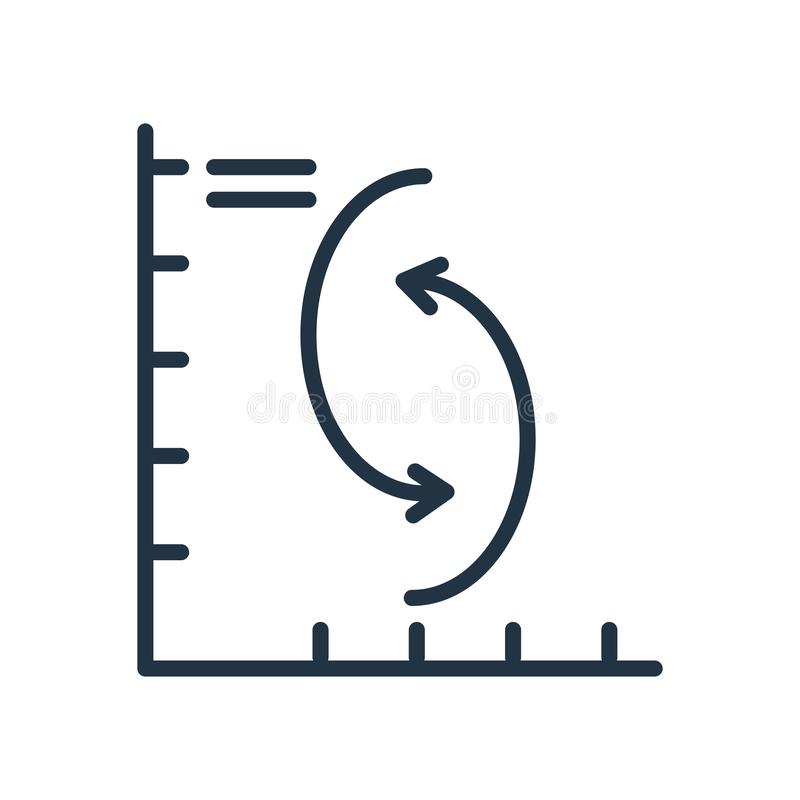 绘制在白色背景隔绝的象传染媒介图表,图标志 向量例证