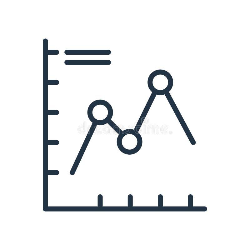绘制在白色背景隔绝的象传染媒介图表,图标志 皇族释放例证