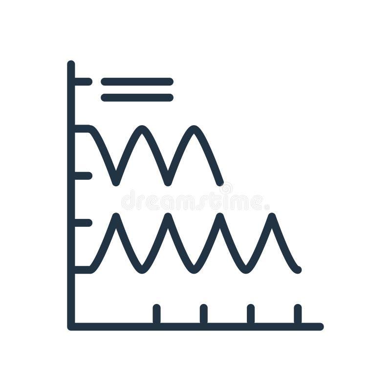 绘制在白色背景隔绝的象传染媒介图表,图标志 库存例证